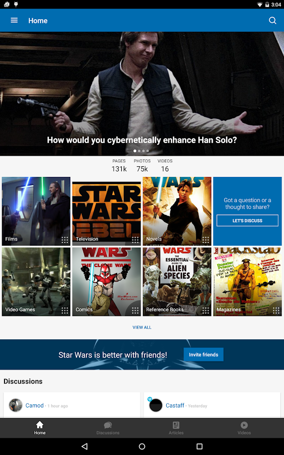 FANDOM for: Star Wars – Screenshot