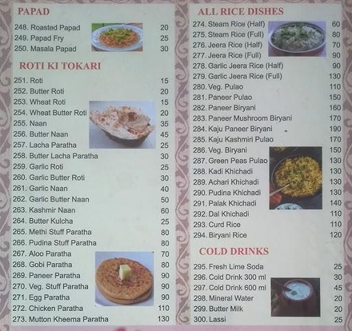 Sunshine Family Restaurant menu 4
