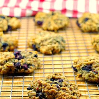 Saskatoon Berry Oatmeal Cookies.