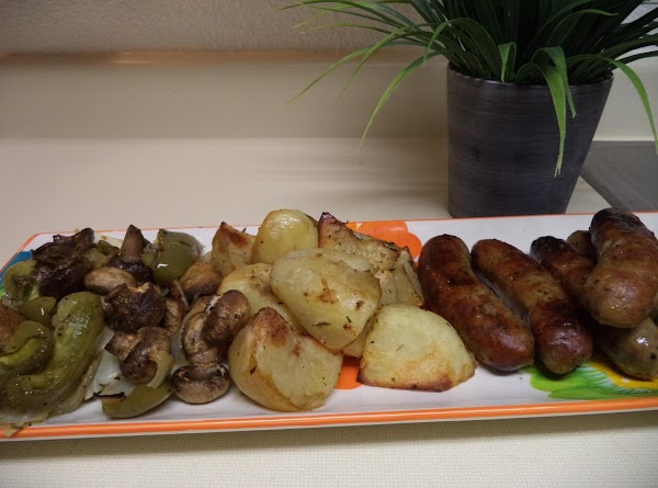 Roasted Italian Sausage, Peppers, And Potatoes Recipe