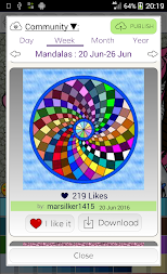 Mandalas coloring pages (+200 free templates) APK screenshot thumbnail 9