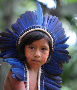 pintura de rosto dia do indio