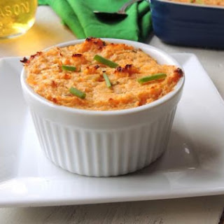 Turkey Shephard's Pie Topped with a Two-Potato Souffle