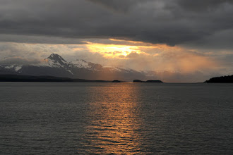 Photo: Sunset on way to Skagway along Lynn Canal