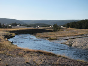 Photo: Geyser Hill  beyond the Firehole River