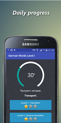 German conversation Screenshot