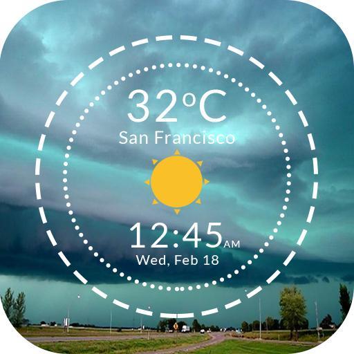 Live Weather & Clock Widget