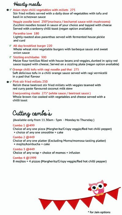 Enerjuvate Studio & Cafe menu 6
