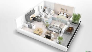 Appartement 3 pièces 61,34 m2