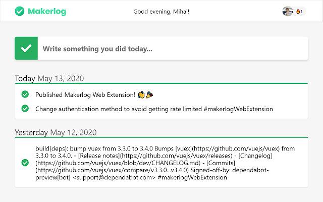 Makerlog