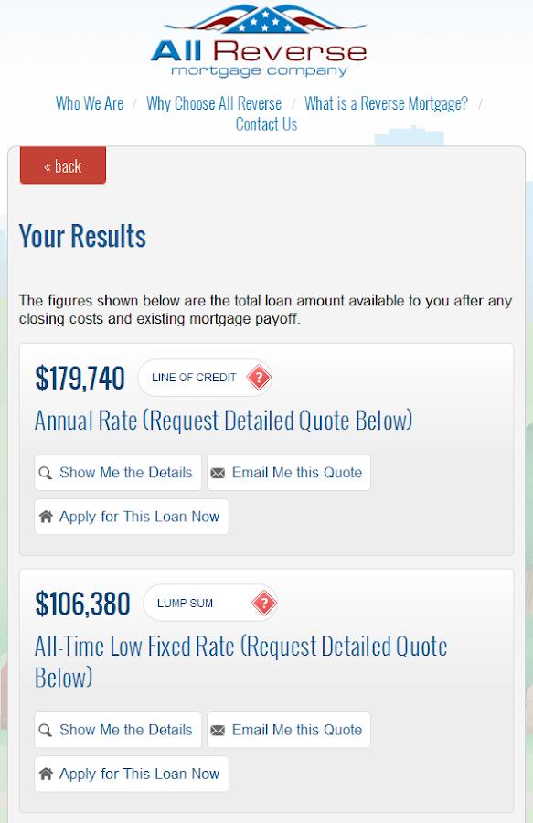 Reverse Mort... Reverse Mortgage Calculator