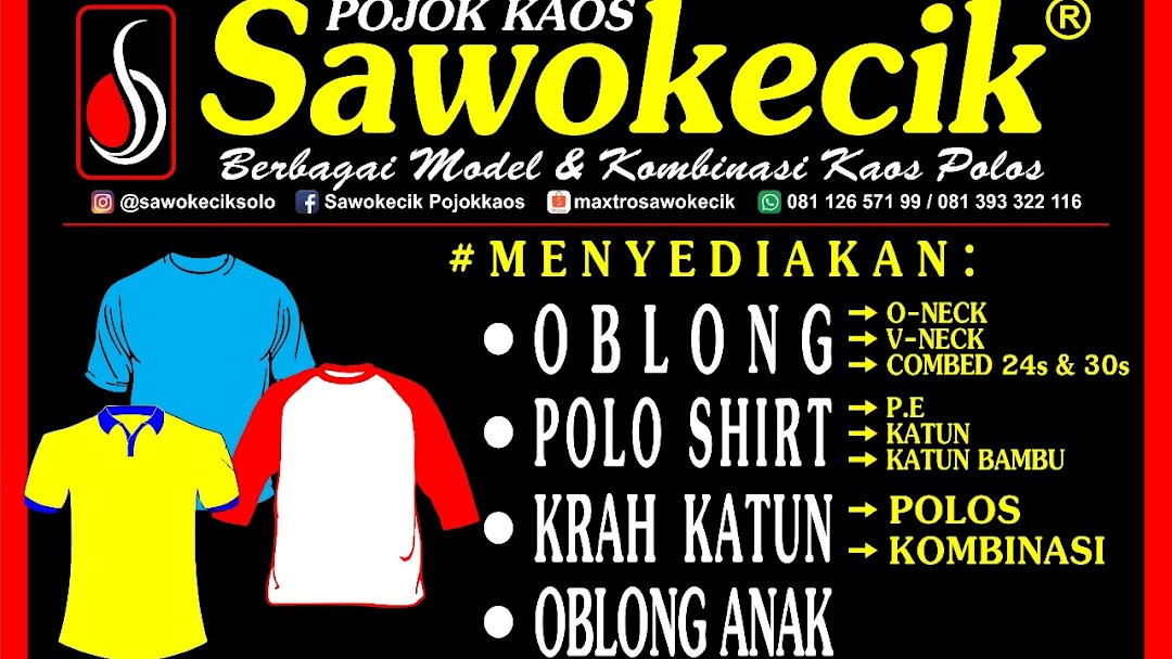 Kaos Sawokecik Solo Jl Kapten Patimura 36b Dawung Wetan Surakarta