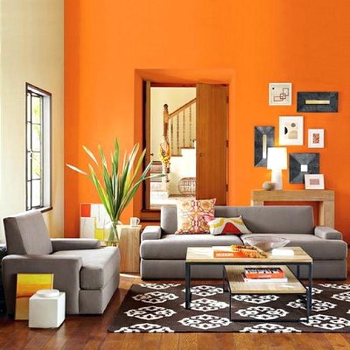 warna cerah untuk ruang tamu kecil dan sederhana