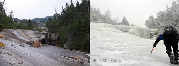 Photo: Comparative shots: bottom of the slide.