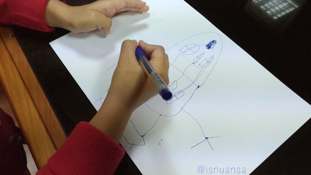 Menggambar, Aktifitas di Kantor Mama