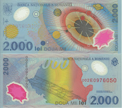 Photo: Total Solar Eclipse, 2000 Romanian Lei (1999). This note is now obsolete. This note commemorates the total solar eclipse visible over Romania in 1999. On the back is a map of Romania with the eclipse path.