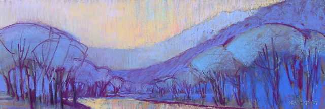 Photo: I Wish I Had a River, pastel by Nancy Roberts, copyright 2014. Private collection.