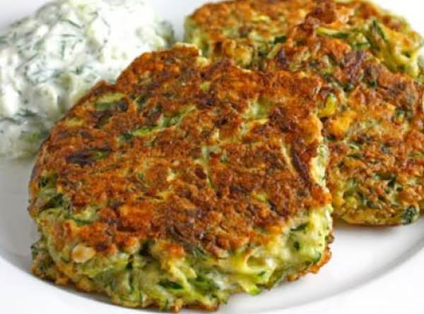 Zucchini Fritters With Tzatziki Recipe