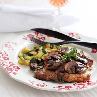 Herbed, Pan Fried Pork Chops.