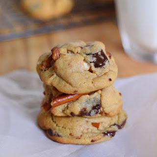 Chocolate Chip Pretzel Peanut Butter Cookies