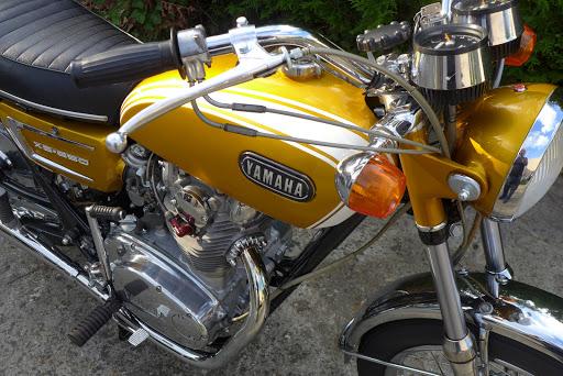 Yamaha 650 XS1B 1971 restaurée par Machines et Moteurs.