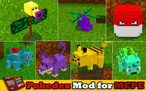 Pixelmon With Pokeball And Pokedex Mod For MCPE Apps Bei Google Play - Minecraft haus bauen mit command block