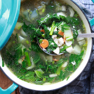Easy Thai Clear Soup with Chicken and Tofu Recipe