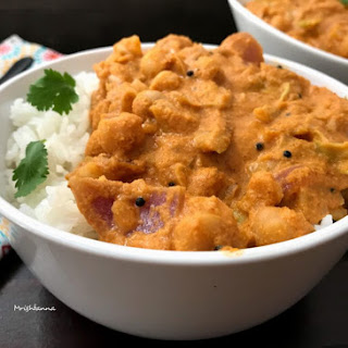 Cabbage Chickpeas Curry.