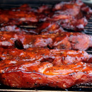 Smoked Pork Country Style Ribs - Cherry Dr. Pepper.