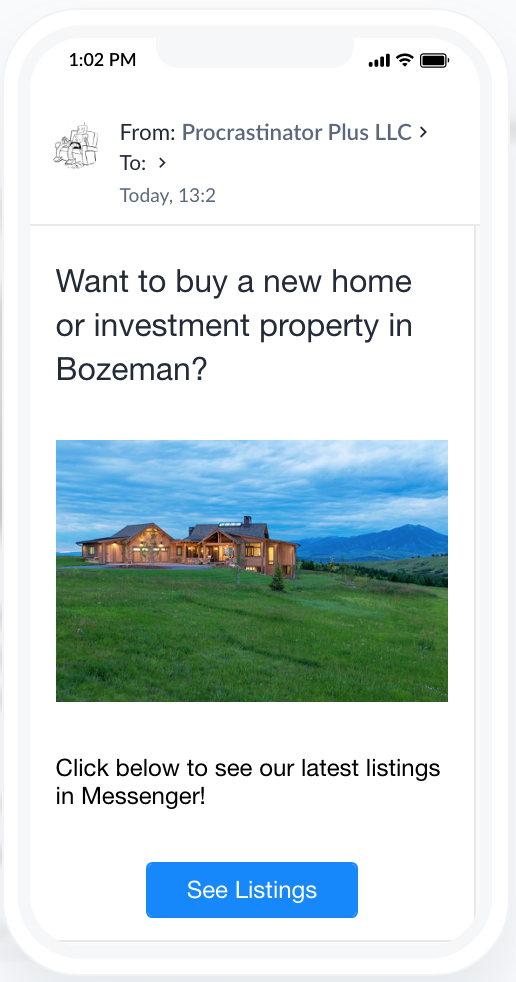 Email marketing for real estate in ManyChat