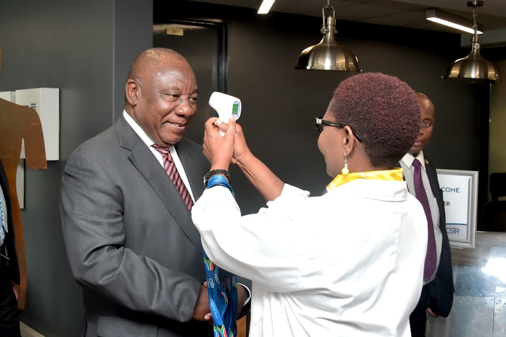 Ramaphosa 'impressed' by ability to track virus in SA - TimesLIVE