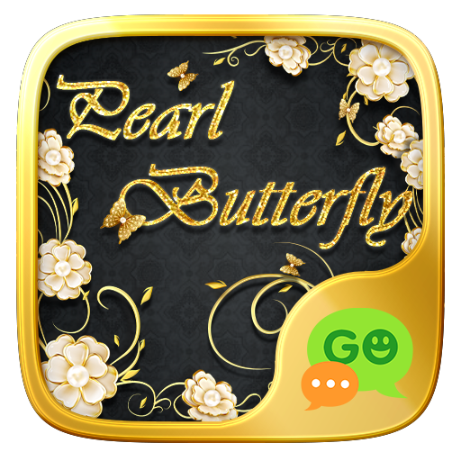 (FREE) GO SMS PEARL BUTTERFLY THEME 3.3.1