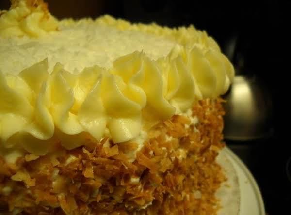 Southern Style Coconut Custard Cake