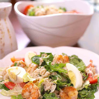 Shrimp And Crabmeat Salad With Creole Dressing.