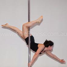 Photo: Vertical Pole Gymnastics - Mallakhamb One Handed Straight Leg Extension
