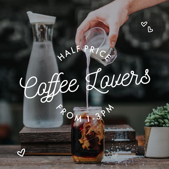 Half Price Coffee Lovers - Instagram Carousel Ad Template