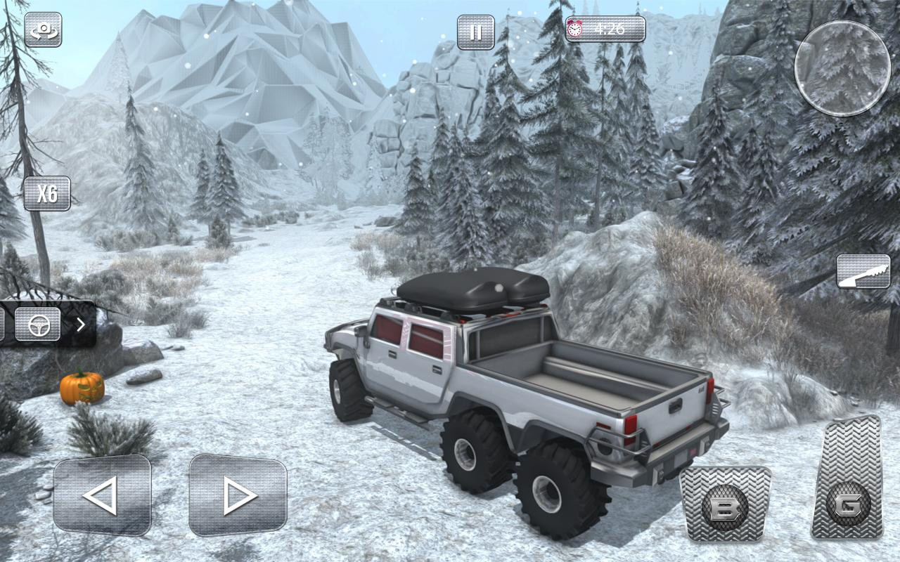 Snow Driving Offroad 6x6 Truck- screenshot