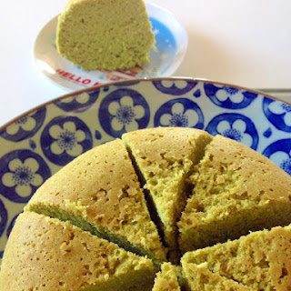 Easy Rice Cooker Okara Matcha Cake (Soy Pulp Green Tea Cake)