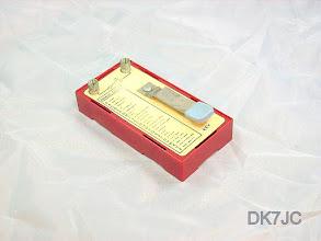 """Photo: Übungs oder Spielzeugtaste (Kastje voor Morse) """"ON""""  #383"""