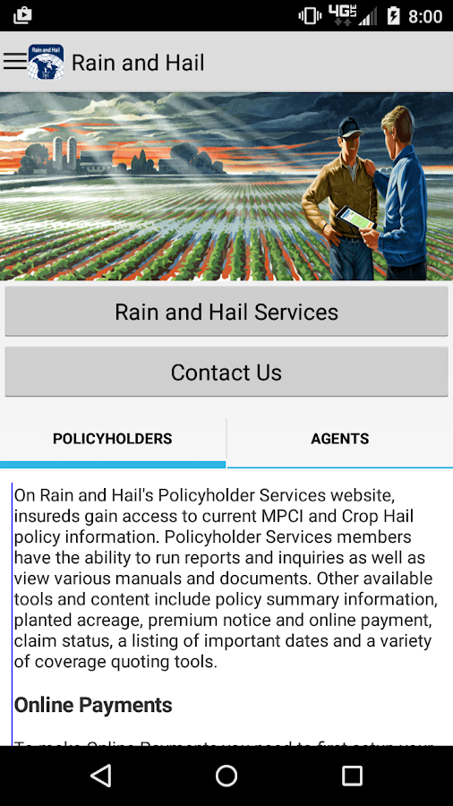 Rain and Hail Insurance- screenshot
