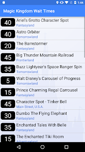 Wait Times for Disney World- screenshot thumbnail