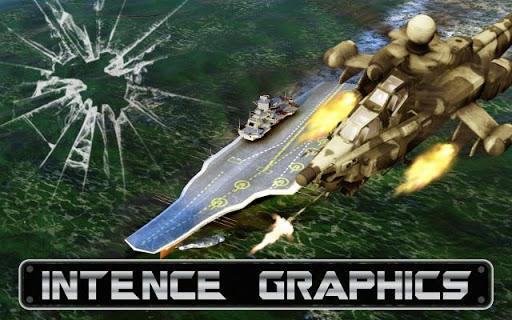 隐形武装直升机粉碎战争游戏