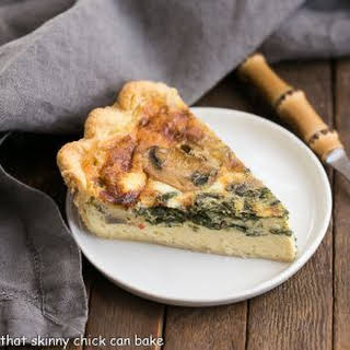 Spinach and Mushroom Quiche.