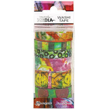 Dina Wakley Media Washi Tape - Set 4