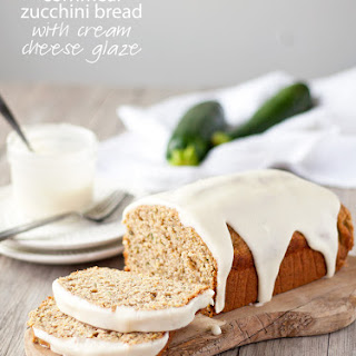 Cornmeal Zucchini Bread with Cream Cheese Glaze