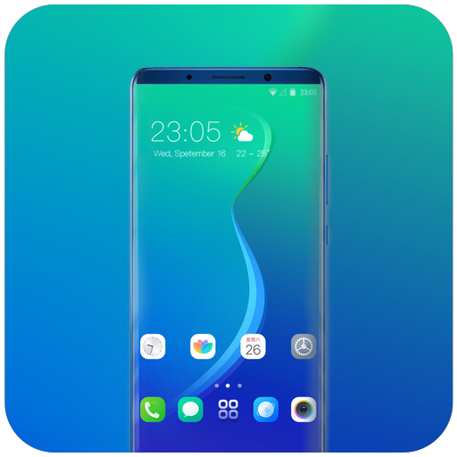 Theme for Oppo Realme 2 blue abstract wallpaper icon