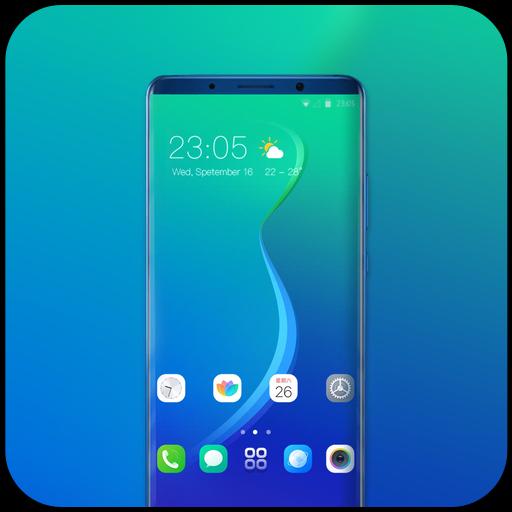 Theme for Oppo Realme 2 blue abstract wallpaper icon