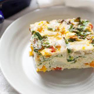 Spinach Veggie Egg Casserole.