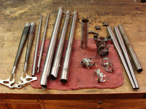 Photo: Tubes and lugs, cleaned and ready to fixture and tack.