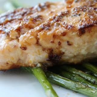 Salmon with Mustard and Brown Sugar Glaze Recipe